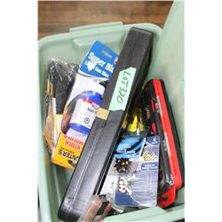 Gr. Tote w/Sinkers,Fish Bobs,Leaders, 22 Gun Cleaning Field Kit,2 Estrus Scent Pkgs,Part Shotgun Cle