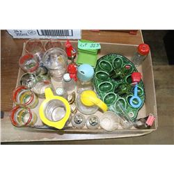 Flat w/Egg Tray, Syrup Dispensers, Small Glasses, et