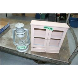 Sm. Barn Lantern & Small Ornament Cabinet