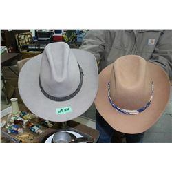 2 Cowboy Hats - Size 7 3/4 & 7