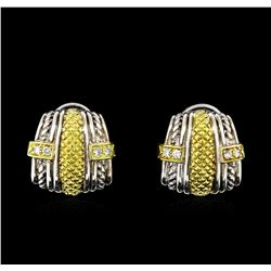 0.25 ctw Diamond Silver Earrings