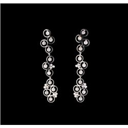 14KT White Gold 0.66 ctw Diamond Earrings