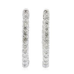 14KT White Gold 2.23 ctw Diamond Earrings