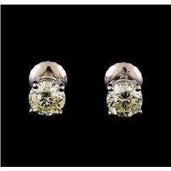 14KT White Gold 1.20 ctw Diamond Solitaire Earrings