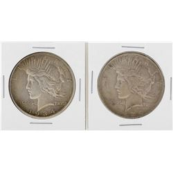 Lot of 1934 & 1934-D $1 Peace Silver Dollar Coins