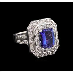 14KT White Gold 2.74 ctw Tanzanite and Diamond Ring