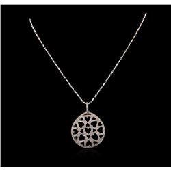14KT White Gold 0.52 ctw Diamond Pendant With Chain