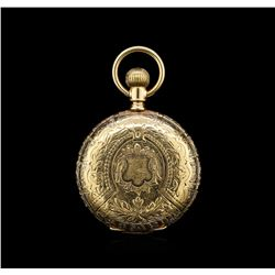 Elgin 14KT Yellow Gold Full Hunter Antique Pocket Watch