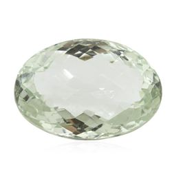 31.41 ct. Oval Cut Oval Briollette Cut Green Quartz