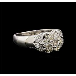 14KT White Gold 0.65 ctw Diamond Ring