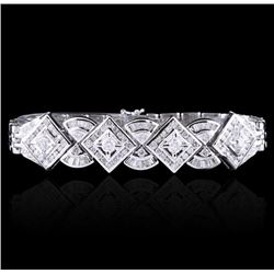 18KT White Gold 3.43 ctw Diamond Bracelet