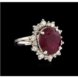 14KT White Gold 8.81 ctw Ruby and Diamond Ring