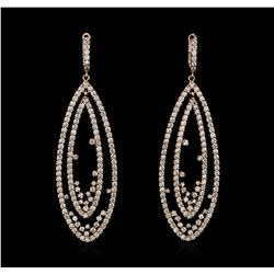 14KT Rose Gold 3.75 ctw Diamond Earrings