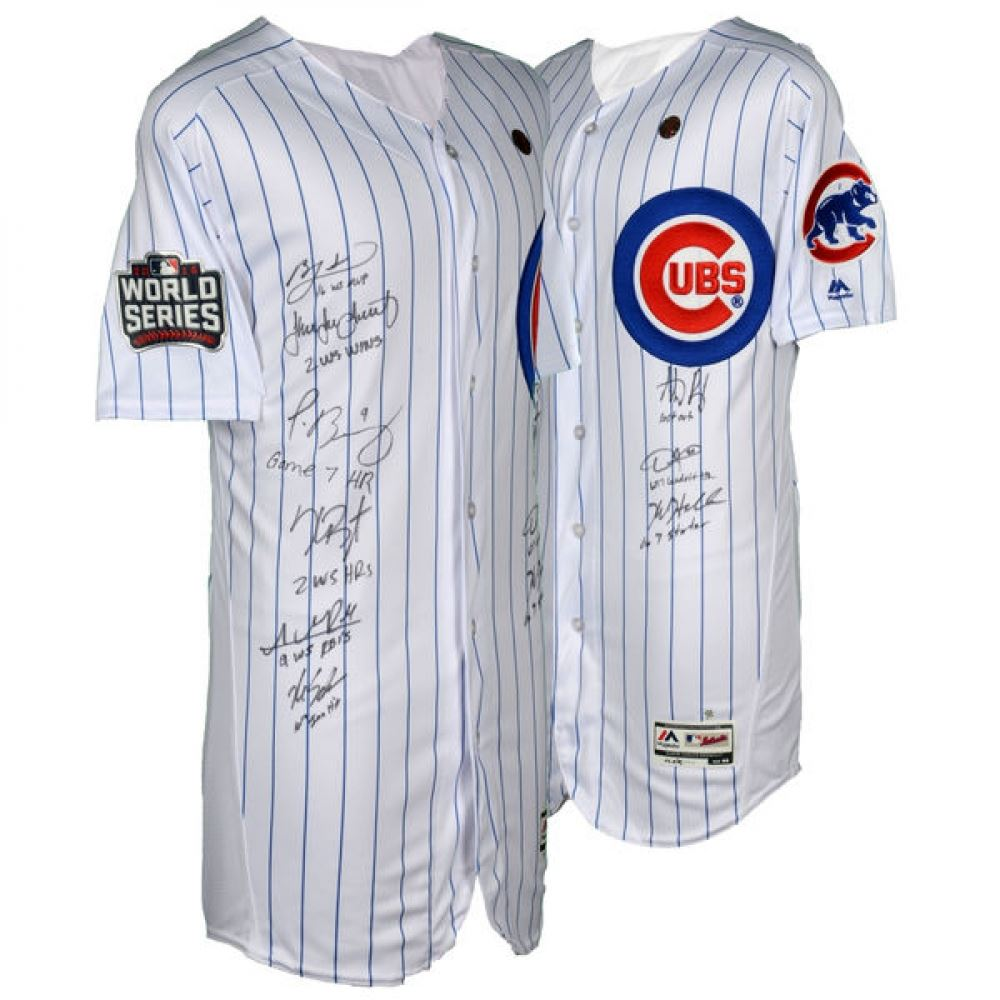 promo code 356b5 00ea8 2016 Cubs World Series Champions Jersey Team-Signed by (9)