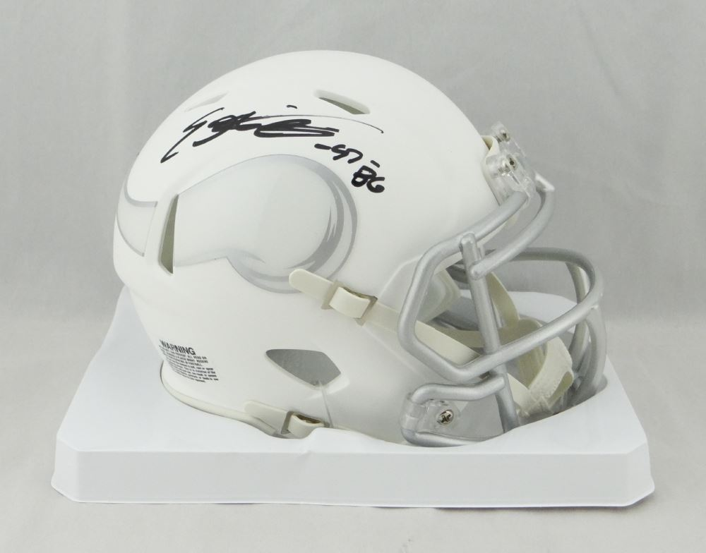 Everson Griffin Signed Vikings White ICE Speed Mini Helmet