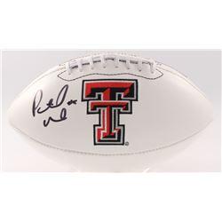 f4e2876b8c91f Patrick Mahomes II Signed Texas Tech Red Raiders Logo Football (JSA COA)