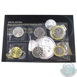 2018 Canada Special Edition R&D Security Token Set with Die Crack. Tri-Metal Token contains the Die