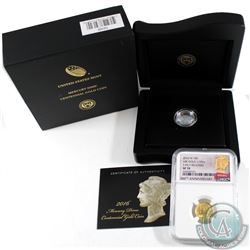 2016-W United States Mercury Dime Centennial 1/10 24K Gold NGC Certified SP-70 Early Release (Tax Ex