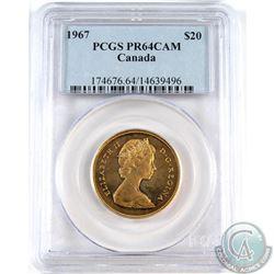 1967 Canada Centennial 22K Gold PCGS Certified PR-64 CAM.