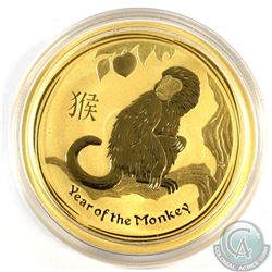 Australia; Perth Mint 2016 1oz Year of the Monkey Pure Gold Coin issued by the Perth Mint (Tax Exemp
