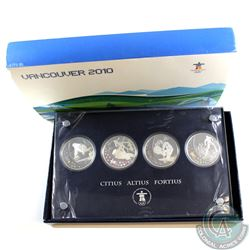 """2007-2009 Canada $25 Vancouver Olympics """"Citius Altius Fortius"""" 4-coin Sterling Silver Hologram Set"""