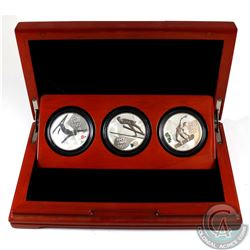 2014 Russia 3-Roubles Olympic Winter Games Sterling Silver 3-coin set in Deluxe Subscription Display
