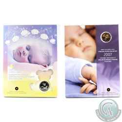 2006 & 2007 Canada Baby Lullabies CD & Silver Dollar Sets. 2pcs.
