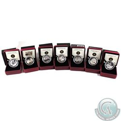2012-2013 Canada $20 Group of Seven Fine Silver Complete Coin Collection (Tax Exempt). You will rece