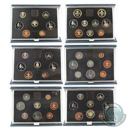 1983-1989 United Kingdom Proof Coin Set Collection. You will receive 1983 (light toning), 1984 (ligh