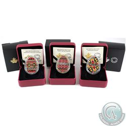 2016-2018 Canada $20 Pysanka Fine Silver Coin Collection (Tax Exempt). You will receive the 2016 Tra