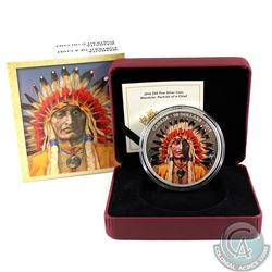 2016 Canada $50 Wanduta Portrait of a Chief 5oz. Fine Silver (Tax Exempt).