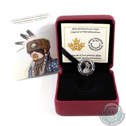 2014 Canada $5 Portrait of Nanaboozhoo Platinum Coin (Tax Exempt).