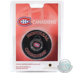 2008 Canada Montreal Canadiens NHL $1 Coin Puck Set