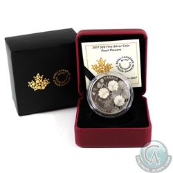 2017 Canada $20 Pearl Flowers Fine Silver Coin (Tax Exempt)