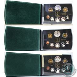 2001, 2002, & 2003 Canada Proof Double Dollar Set Collection. Please note coins may have light tonin