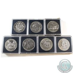 1981-1995 Canada Brilliant Uncirculated Dollar Collection. You will receive 1981, 1988, 1989, 1992,