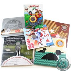 RCM Lot: 6x Commemorative RCM issued coins and sets: 2004 Canada Golf 10-cent Gift Set, 2005 Canada