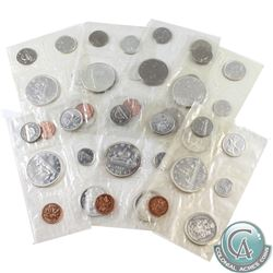 1961, 1962, 1963, 1965 Pointed, 1966, 1967, & 1968 Canada Proof Like sets. Please note coins may be
