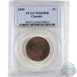 1899 Canada 1-cent PCGS Certified MS-63 Red/Brown