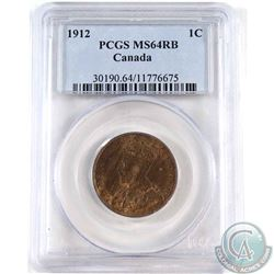 1912 Canada 1-cent PCGS Certified MS-64 Red/Brown