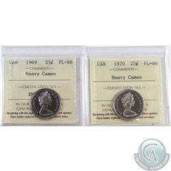 1969 & 1970 Canada ICCS Certified PL-66 Heavy Cameo. 2pcs