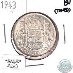 1943 Canada 50-cent Brilliant Uncirculated (Toned)