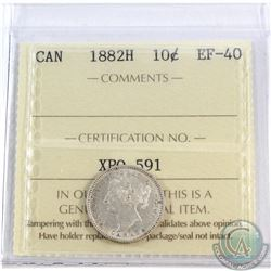 1882H Canada 10-cent ICCS Certified EF-40.