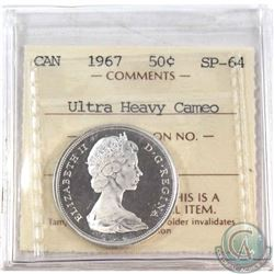 1967 Canada 50-cent ICCS Certified SP-64; Ultra Heavy Cameo
