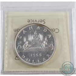 1966 Large Beads Canada Silver Dollars ICCS Certified PL-66; Heavy Cameo