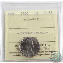 1960 Canada 5-cent ICCS Certified PL-67