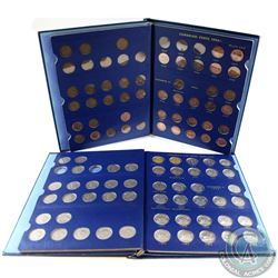 1920-1969 Canada 1-cents & 1922-1966 Canada 5-cent Collection in Vintage Blue Whitman Folders. You w