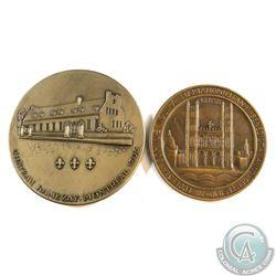 2x Lombardo Mint Chateau Ramezay Montreal 1705 (70 mm Diameter) & Dominae Nostrae Marianopolitane Be