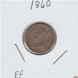 1860 USA 1-cent Extra Fine