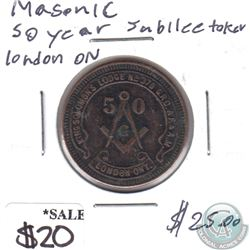 1929 Masonic Golden Jubilee Medal - King Solomon's Lodge No. 378, London, ON